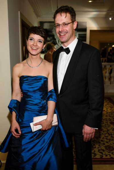 BERLIN, GERMANY - NOVEMBER 27: Frauke Petry (L), Chairwoman of the Alternative fuer Deutschland (Alternative for Germany) political party and Marcus Pretzel, Chairman of the North-Rhine-Westphalia AfD (Alternative fuer Deutschland) political party attend the Bundespresseball 2015 at Hotel Adlon on November 27, 2015 in Berlin, Germany.  (Photo by Clemens Bilan/Getty Images)